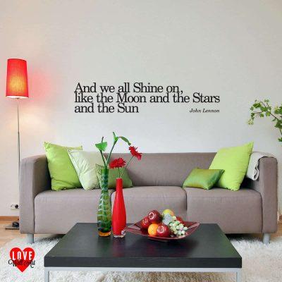 John Lennon Instant Karma! (we all shine on) song lyric wall art sticker