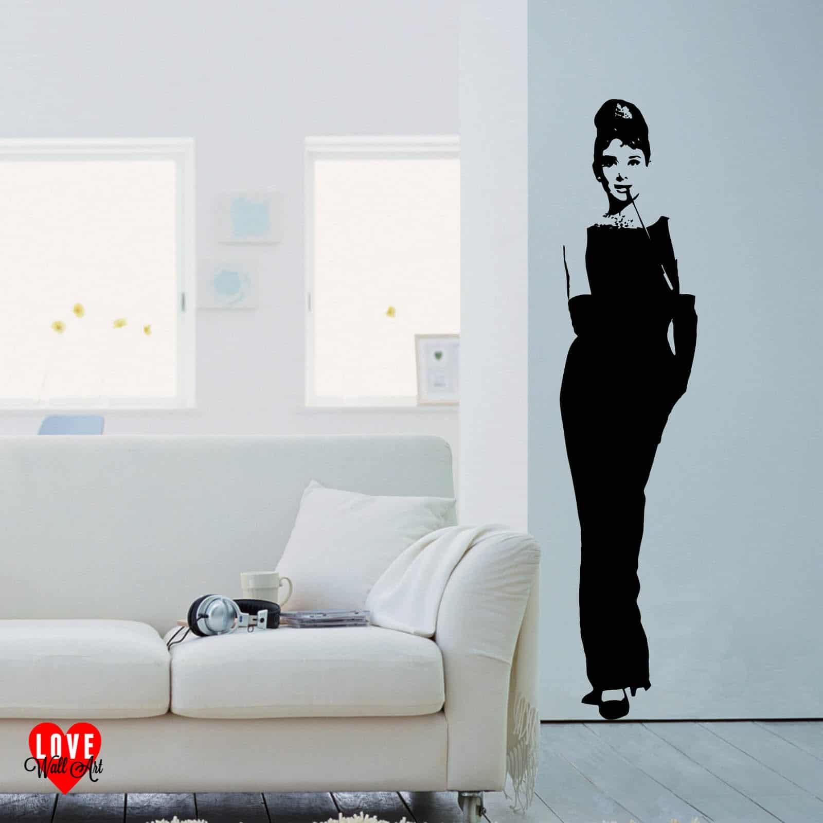 Audrey Hepburn wall art sticker life size Breakfast at Tiffanys