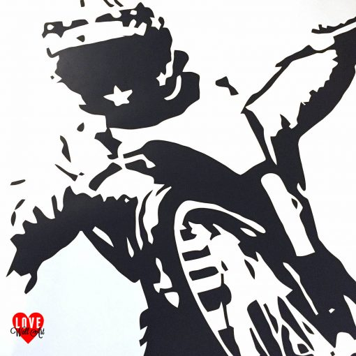 Bruce Penhall wall art sticker speedway rider large silhouette