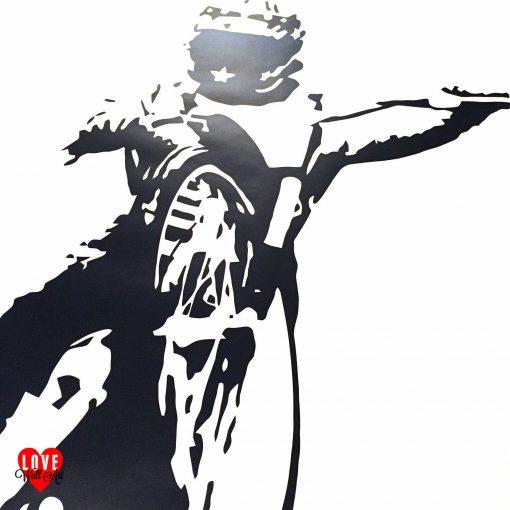Bruce Penhall wall art sticker speedway rider large silhouette