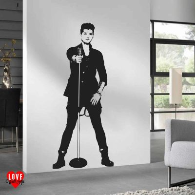 Danny O'Donoghue of The Script lifesize silhouette wall art sticker