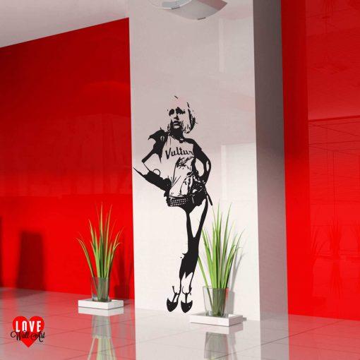Debbie Harry of Blondie lifesize silhouette wall art sticker