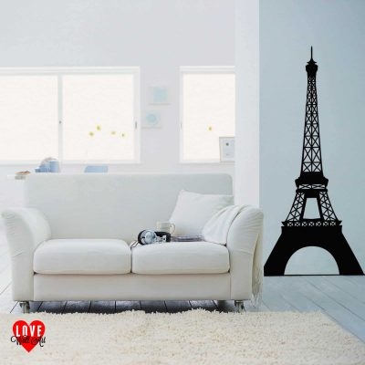 Eiffel Tower in Paris, France design wall art sticker