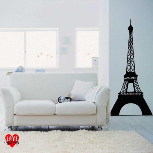 Eiffel Tower in Paris, France design wall art sticker