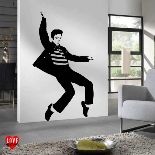 Elvis Presley Jaihouse Rock large silhouette wall art sticker