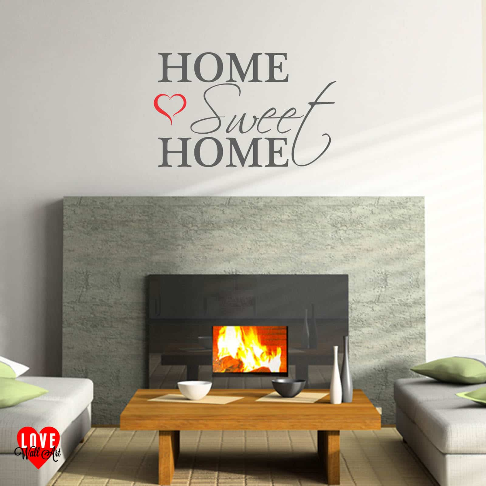 Wall stickers home sweet home - Home Sweet Home Wall Art Quote Wall Sticker