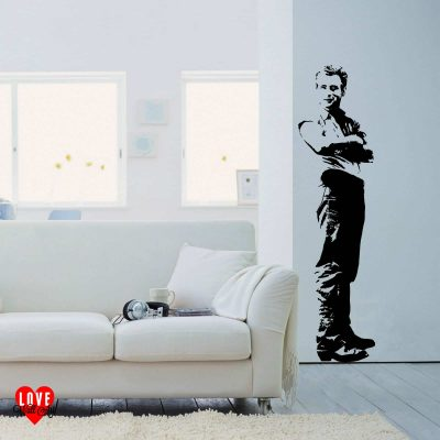 James Dean wall art sticker life size silhouette