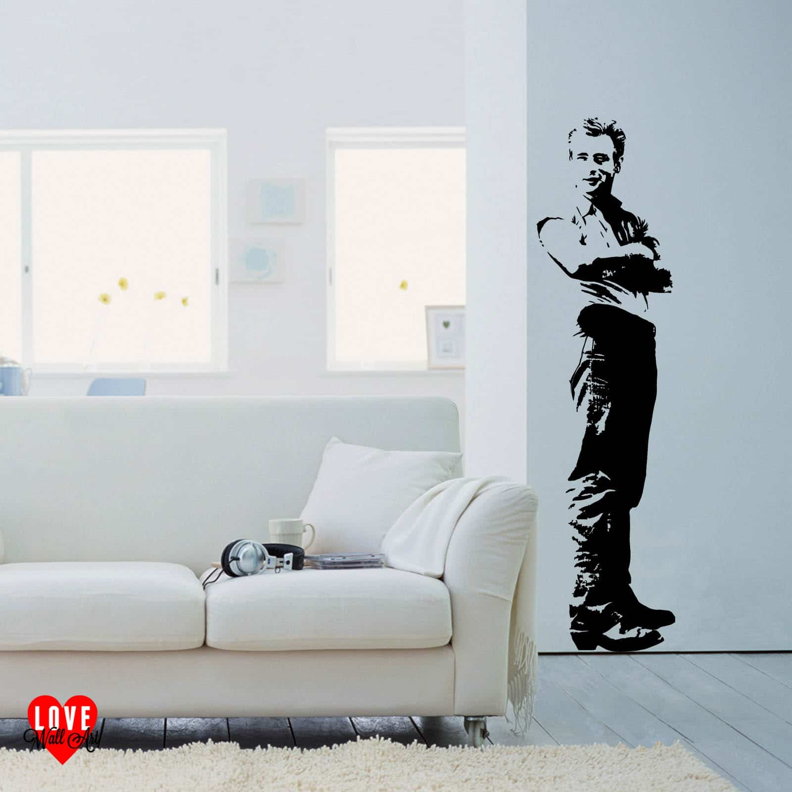 James dean wall art sticker life size in the movie giant for Giant wall art