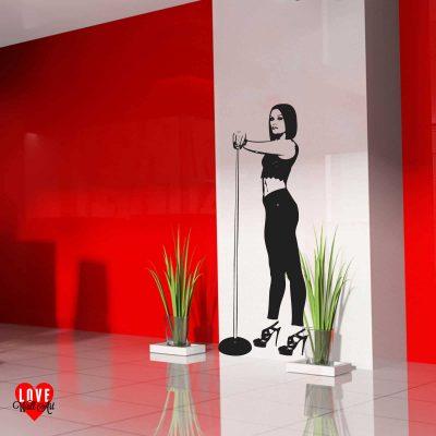 Jessie J lifesize silhouette wall art sticker