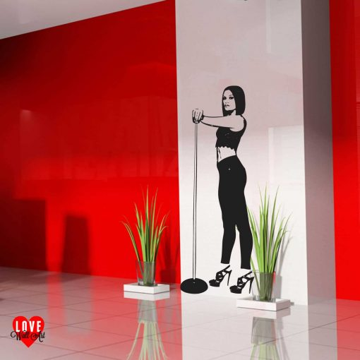 Jessie J lifesize silhouette wall art sticker