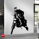 Marlon Brando - Wild One large silhouette wall art sticker
