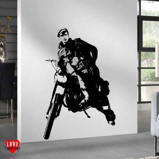 Marlon Brando - Wild One large silhouette wall art sticker