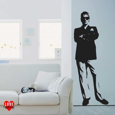 Paul Weller lifesize silhouette wall art sticker