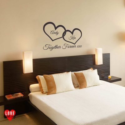 """Together Forever"" wall art sticker"