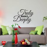"""Truly Madly Deeply"" Savage Garden song lyric wall art sticker"
