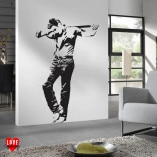 James Dean crucifixion lifesize silhouette wall art sticker