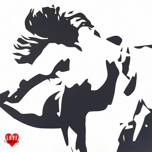James Dean crucifixion lifesize silhouette wall art sticker