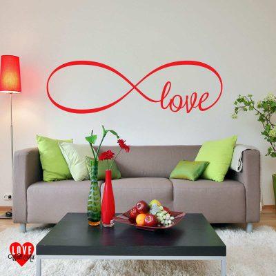 Infinity love symbol design wall art sticker