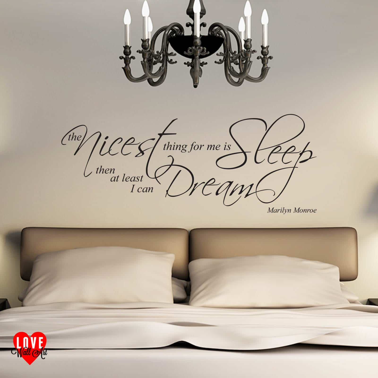 Marilyn Monroe Quote The Nicest Thing For Me Is Sleep Wall Art Sticker Part 33