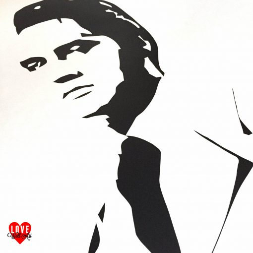 Elvis Presley If I Can Dream life size silhouette wall art sticker