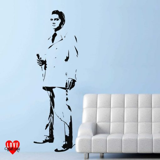 Elvis Presley wall art sticker If I Can Dream life size silhouette