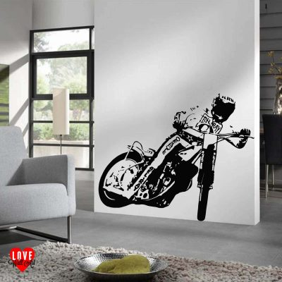 Bruce Penhall speedway rider wall art sticker large silhouette