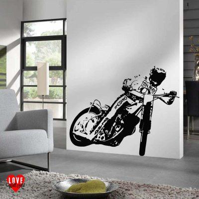 Bruce Penhall speedway rider wall art sticker large silhouette