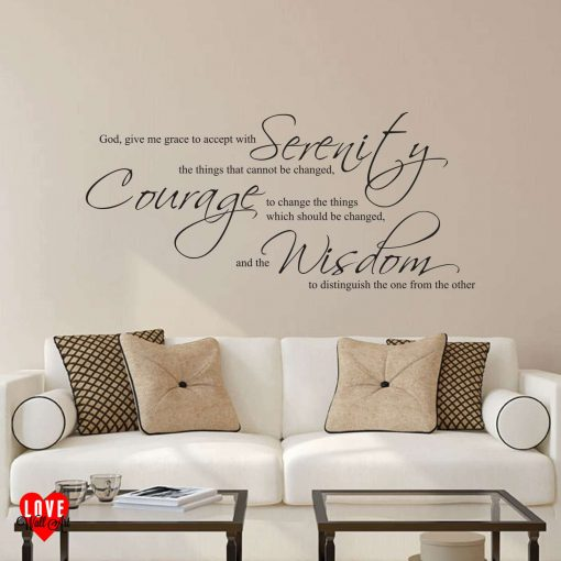 The Serenity prayer quote wall art sticker