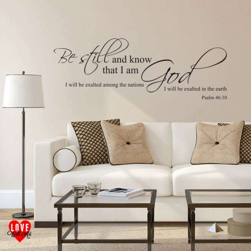 Be Still Psalm 46:10 prayer quote wall art sticker