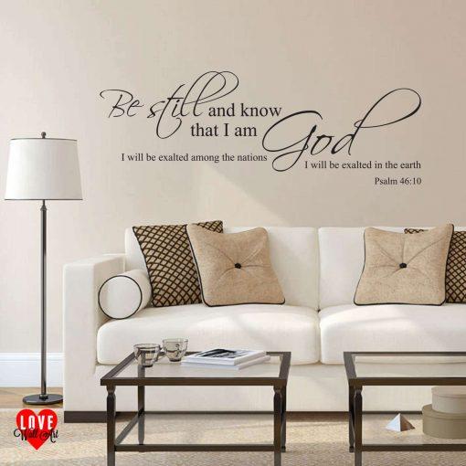 Be Still Psalm 46:10 prayer quote wall art sticker